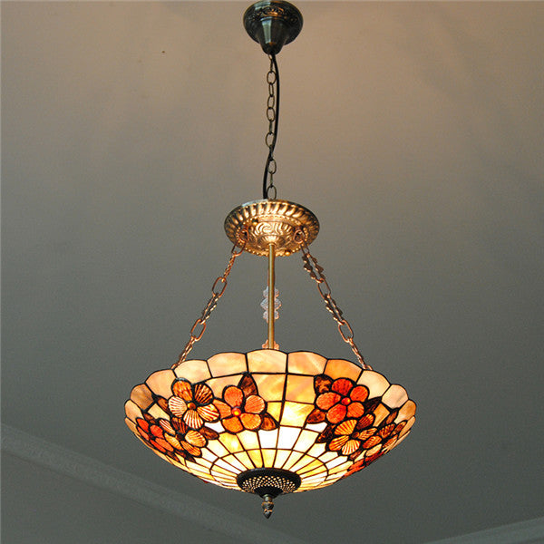 "16"" Shell Lampshade Stained Glass Lighting PL805 - Cheerhuzz"