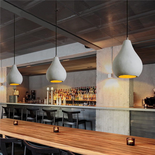 Industrial Cement Pendant Light PL806 - Cheerhuzz