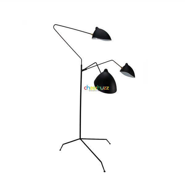 Serge Mouille Three-Arm Floor Lamp FL25-3 - Cheerhuzz