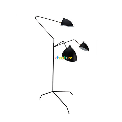 Serge mouille three arm floor lamp fl25 3 cheerhuzz Serge mouille three arm floor lamp