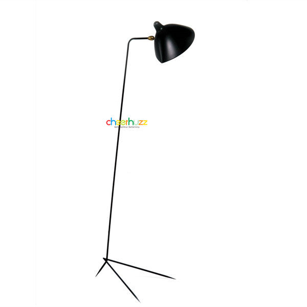Serge Mouille One-Arm Floor Lamp FL25-1