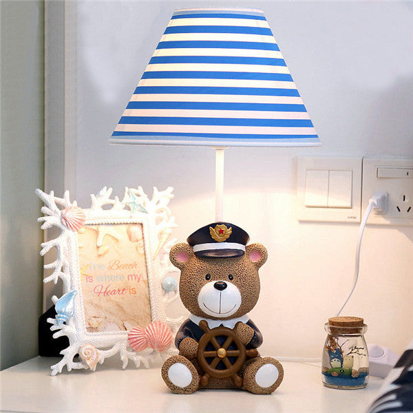 Cartoon Resin Bear Captain Night Light TL138