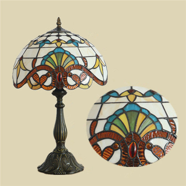 Tiffany Stained Glass Table Lamp TL143