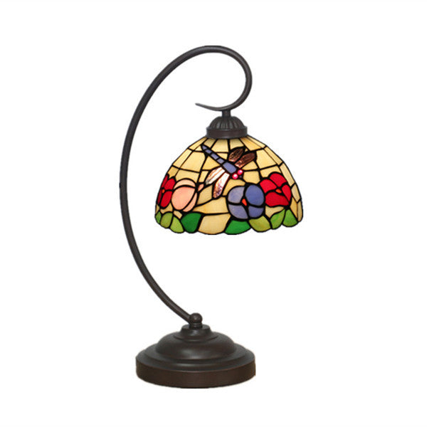 Tiffany Dragonfly Stained Glass Desk Lamp TL147 - Cheerhuzz