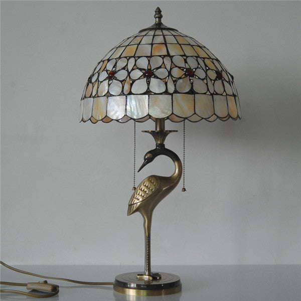 Antique Copper Shell Desk Light TL157 - Cheerhuzz