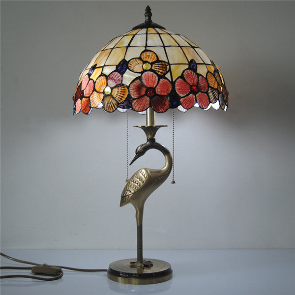Tiffany Floral Stained Glass Table Lamp TL159