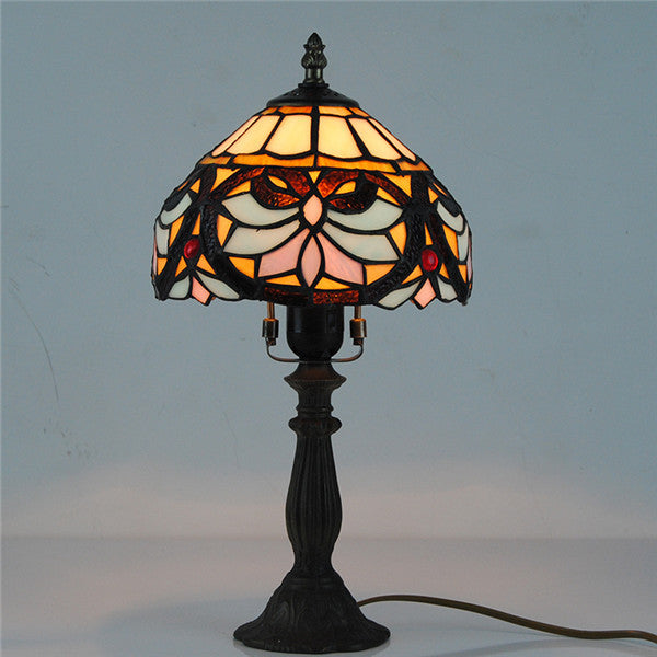 "8"" Stained Glass Tiffany Table Lamp Shade TL166 - Cheerhuzz"