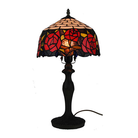 1 Light Tiffany Style Rose Table Lamp TL178