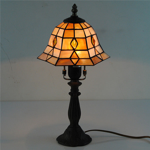 European Handcrafted Stained Glass Table Lamp TL187
