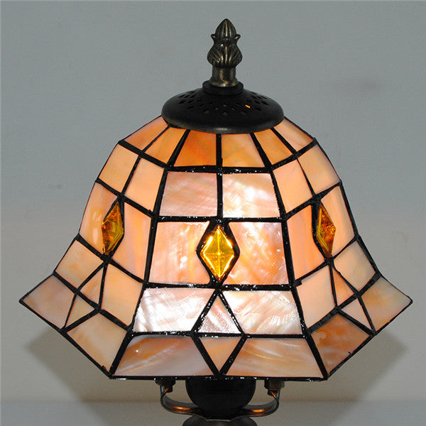 European Handcrafted Stained Glass Table Lamp TL187 - Cheerhuzz