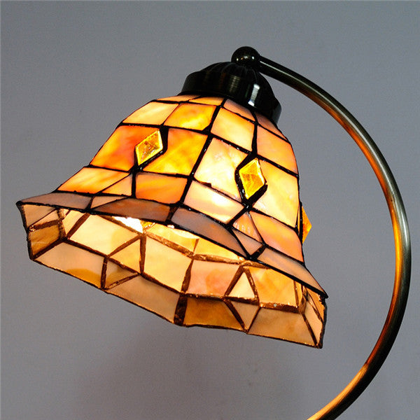 Tiffany Hexagon Stained Glass Desk Lamps TL202 - Cheerhuzz