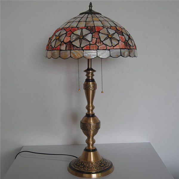 Tiffany Style Glass Copper Table Lamp TL203 - Cheerhuzz