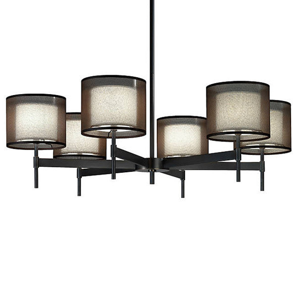 The Saturnia Chandelier Six Shades Light PL302