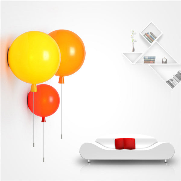 Colorful Balloon Glass Wall Lamp WL197 - Cheerhuzz