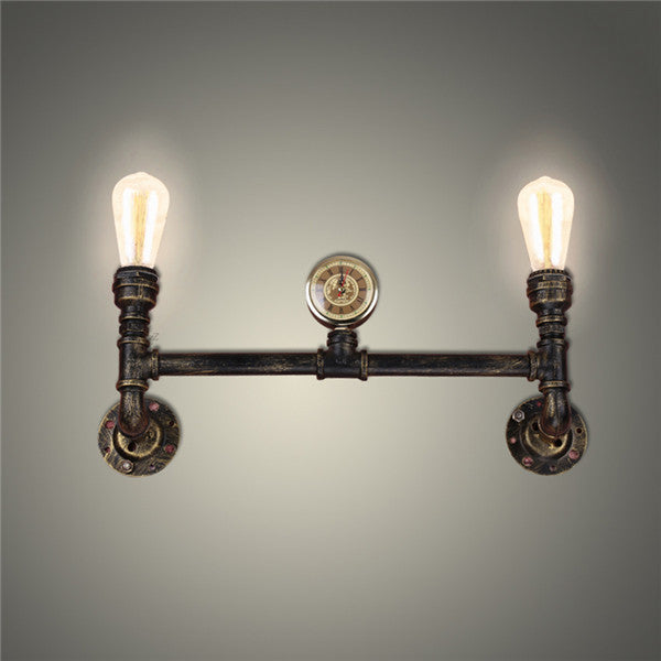 Antique Edison Bulb Iron Pipe Wall Lamp WL200 - Cheerhuzz