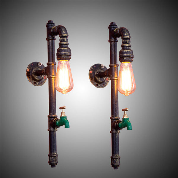 Rustic Vintage Loft Pipe Wall Sconces WL201 - Cheerhuzz