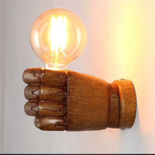 Retro 1-Light Clenched Fist Wall Light WL217