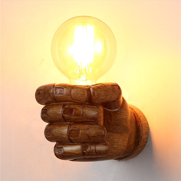 Retro 1-Light Clenched Fist Wall Light WL217 - Cheerhuzz