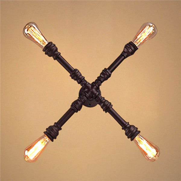 Vintage Loft Pipe Wall Lamp Light WL219 - Cheerhuzz