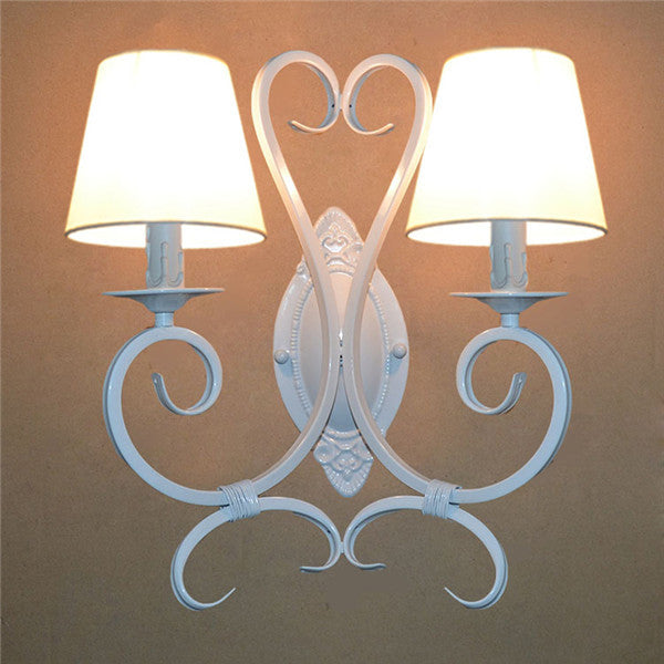 Simple Candle Wall Lamp Iron Mirror Front Lights WL242 - Cheerhuzz