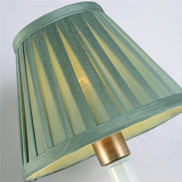 American Iron Bedside Lamp Fabric Shade Wall Sconces WL245