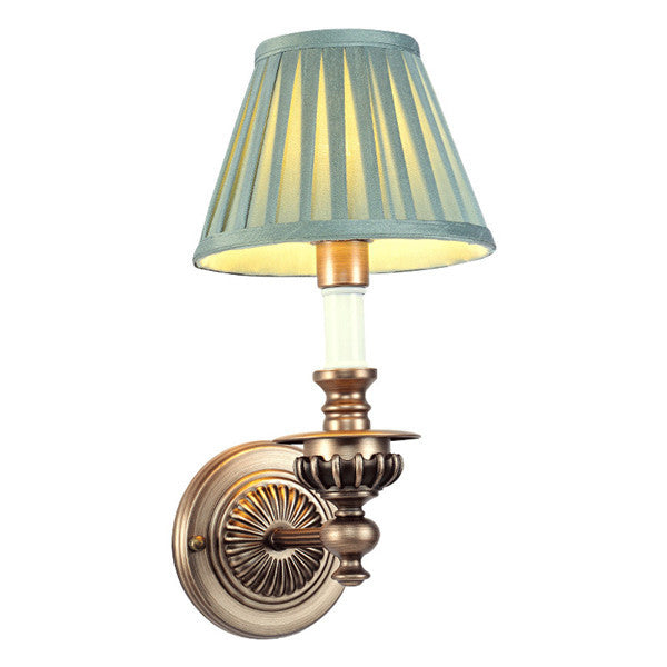 American Iron Bedside Lamp Fabric Shade Wall Sconces WL245 - Cheerhuzz