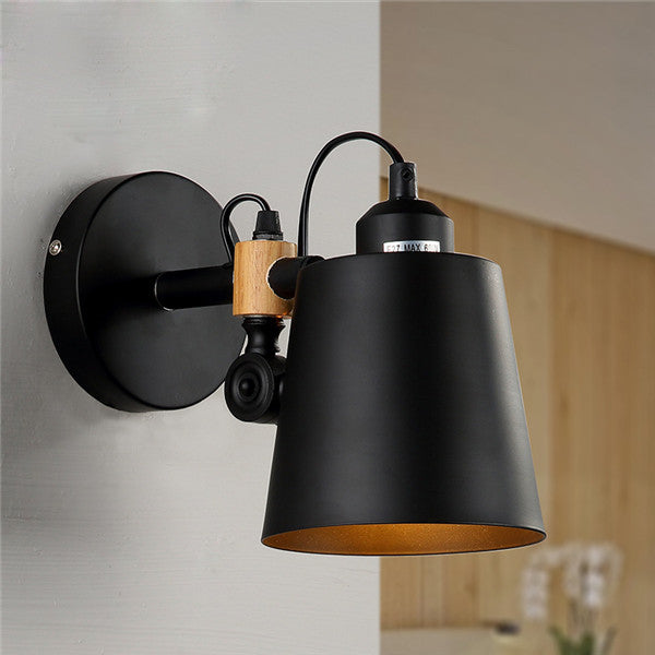 Industrial Retro Loft Black Metal Wall Sconces WL246 - Cheerhuzz