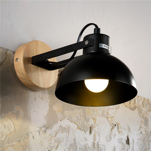 Modern Industry Wood Bedside Lamp WL247