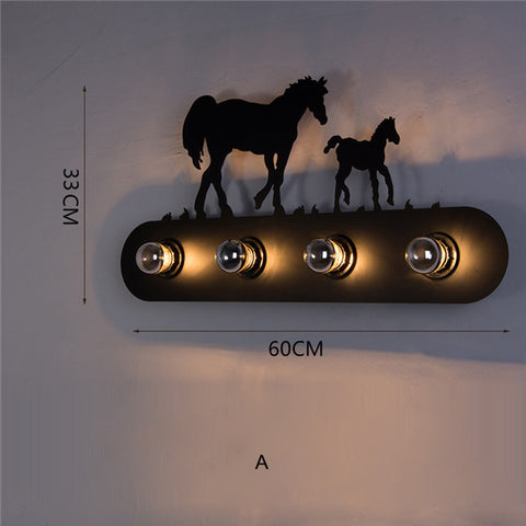 4 Lights Iron Retro Wall Lamp WL252