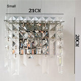 Modern Crystal Metal Wall Sconce WL254