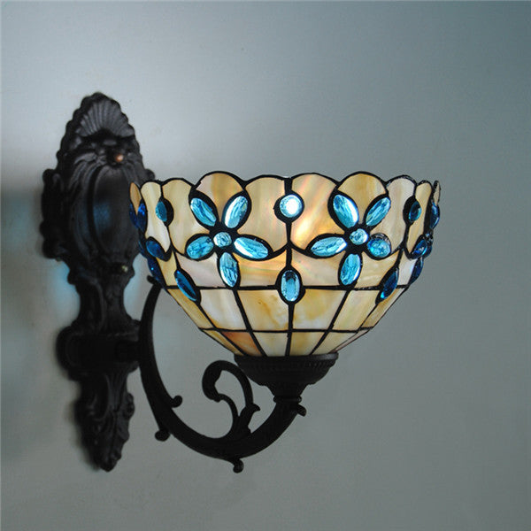 Tiffany Shell Crystal Stained Glass Wall Lamp WL258 - Cheerhuzz