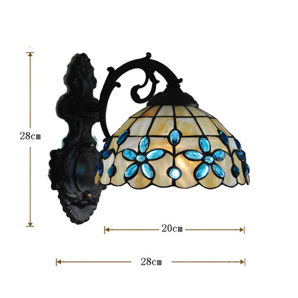 Tiffany Shell Crystal Stained Glass Wall Lamp WL258