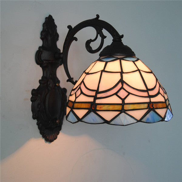 Tiffany Shell Stained Glass Wall Lamp WL259