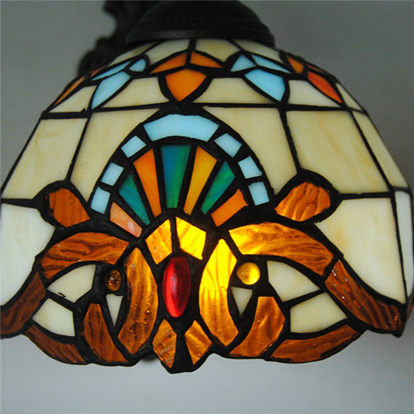 Baroque Tiffany Stained Glass Wall Lamp WL266 - Cheerhuzz