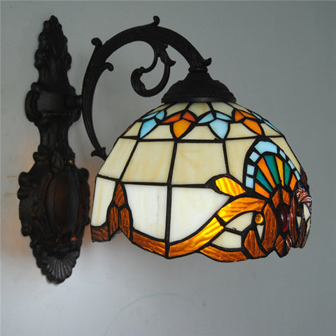 Baroque Tiffany Stained Glass Wall Lamp WL266