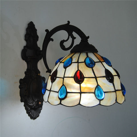 Baroque Tiffany Stained Glass Wall Lamp WL272