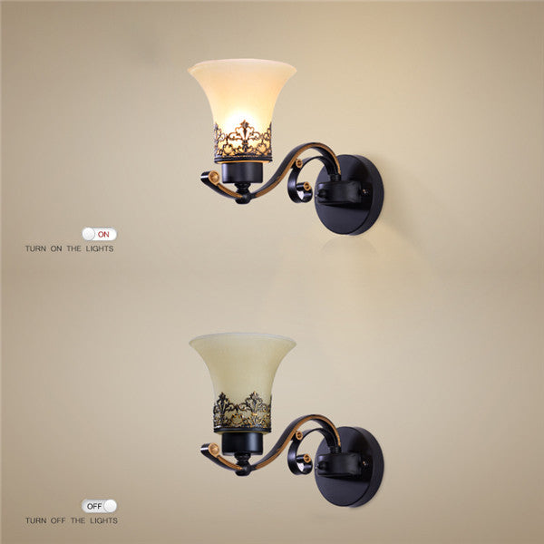 American Retro Glass Wall Sconces WL274 - Cheerhuzz