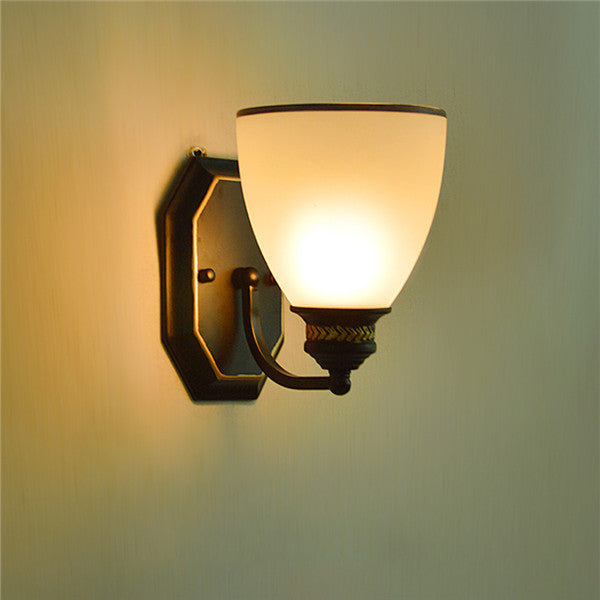 Retro Glass Shade Wall Sconce WL284 - Cheerhuzz