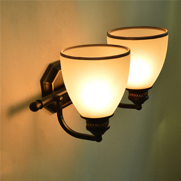 Retro Glass Shade Wall Sconce WL284