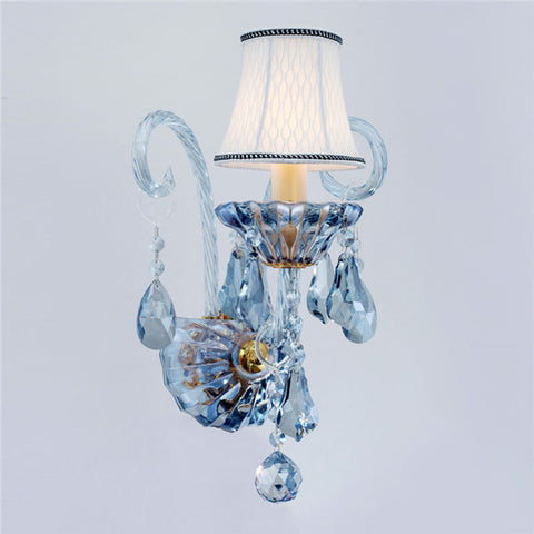 Blue Crystal Wall Sconces WL287