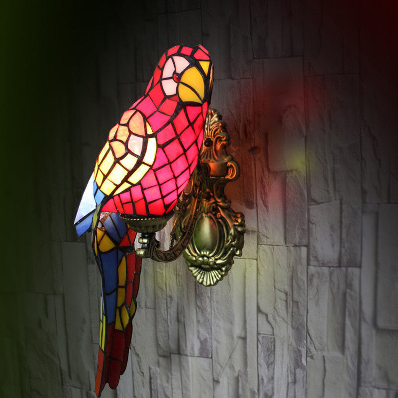 Tiffany Bird Stained Glass Wall Lamp WL288