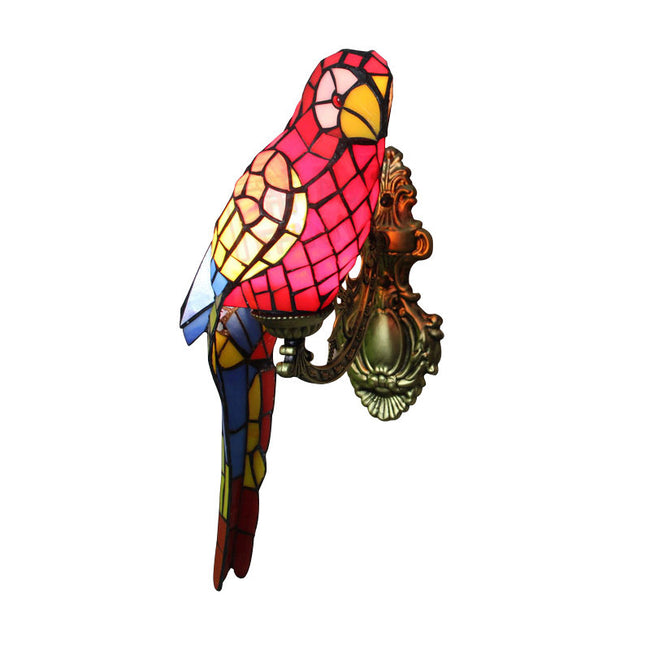 Tiffany Bird Stained Glass Wall Lamp WL288 - Cheerhuzz