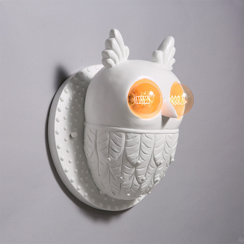 Modern Cute Resin Owl Wall Light WL291 - Cheerhuzz