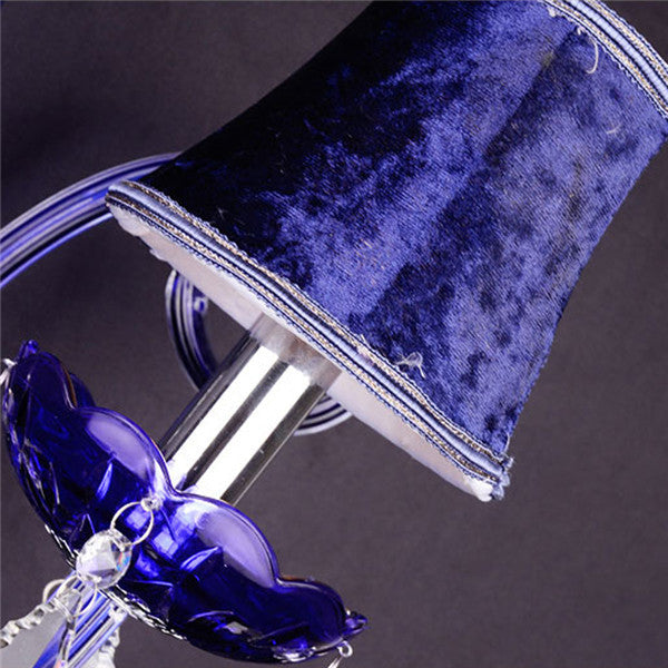 Modern Blue Crystal Wall Lamp WL293-2