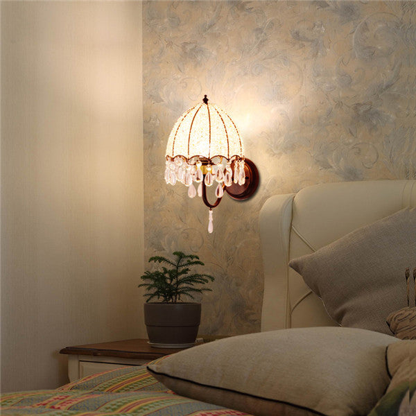White Crystal Wall Lamps WL294