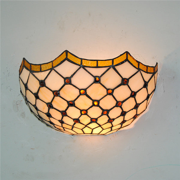 Tiffany Stained Glass Lampshade Wall Lamp WL311 - Cheerhuzz