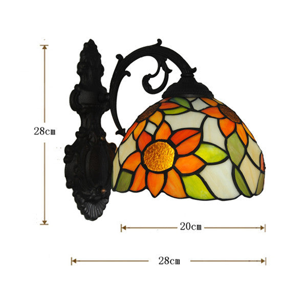 Tiffany Style Sunflower Wall Lamp WL320 - Cheerhuzz
