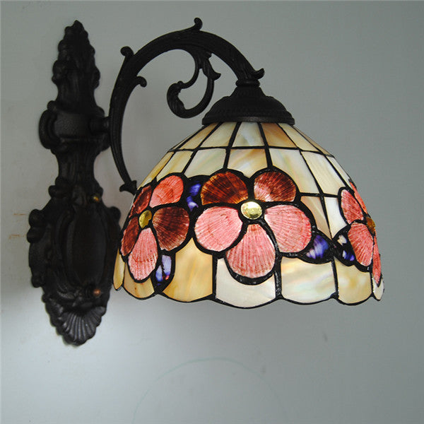 Tiffany Style Vintage Floral Wall Lamp WL327 - Cheerhuzz