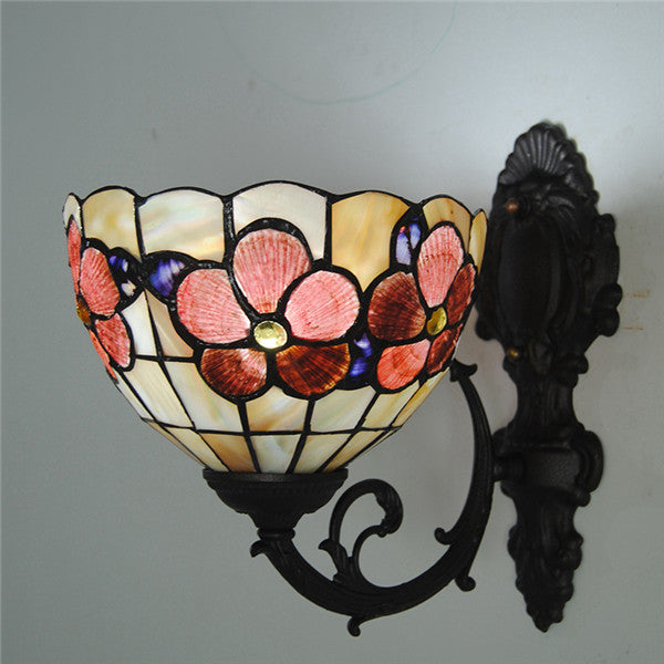 Tiffany Style Vintage Floral Wall Lamp WL327