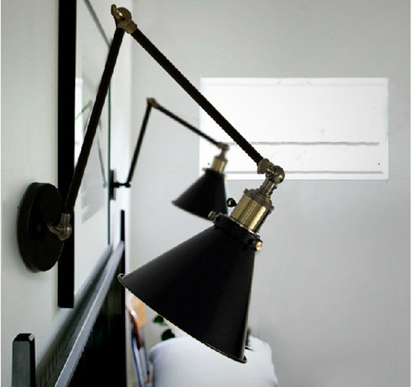 Vintage Industrial Loft Swing Arm Wall Sconce WL53 - Cheerhuzz